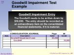 goodwill impairment test example57