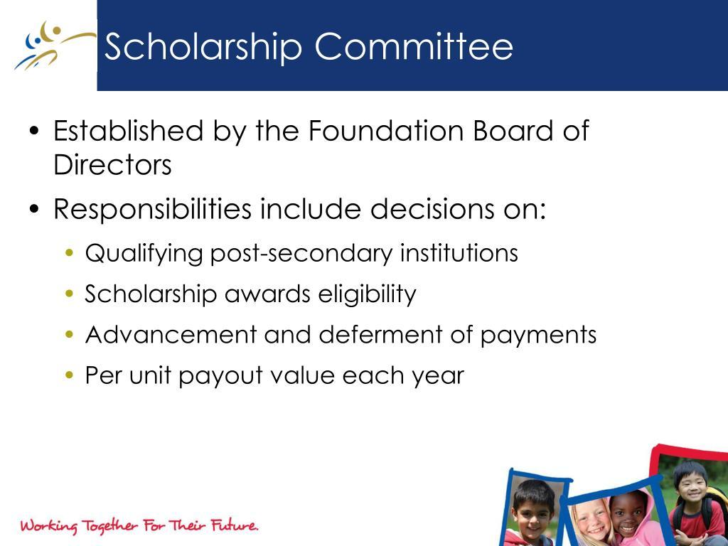 Scholarship Committee