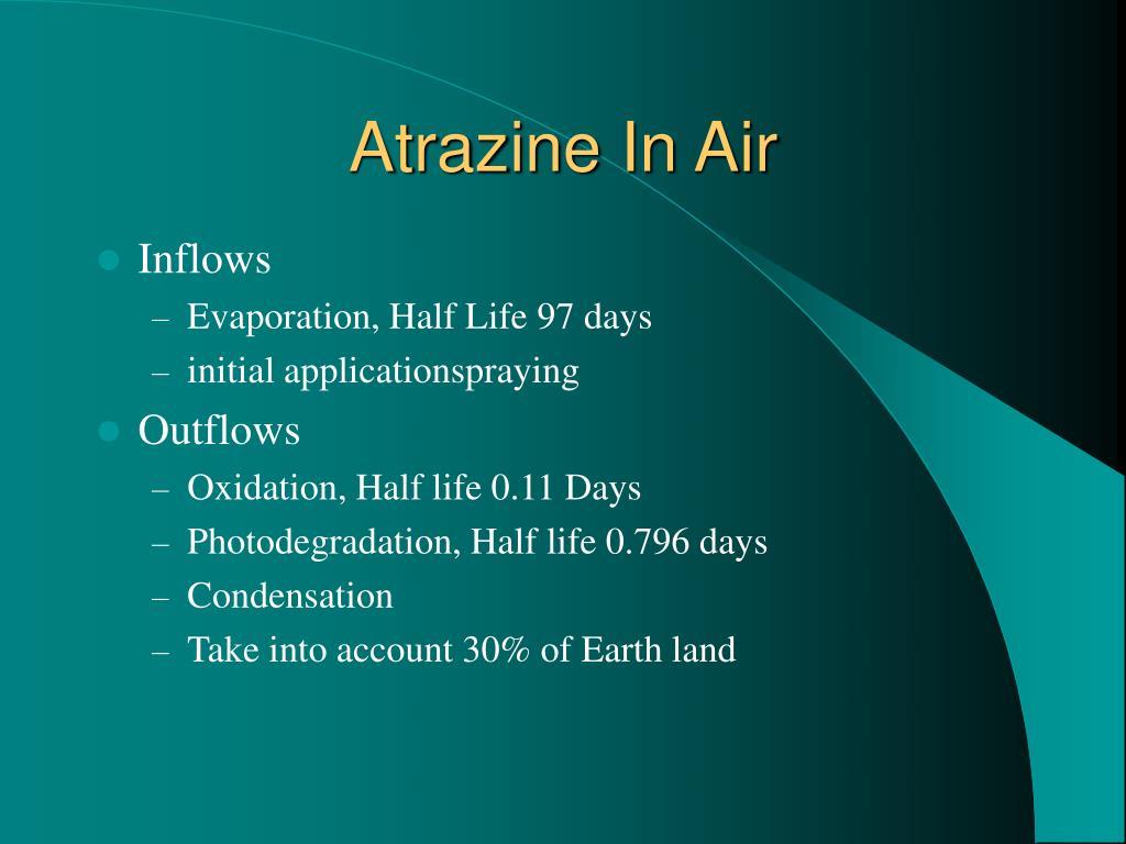 Atrazine In Air