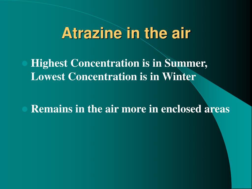 Atrazine in the air