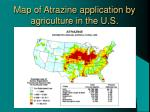 map of atrazine application by agriculture in the u s