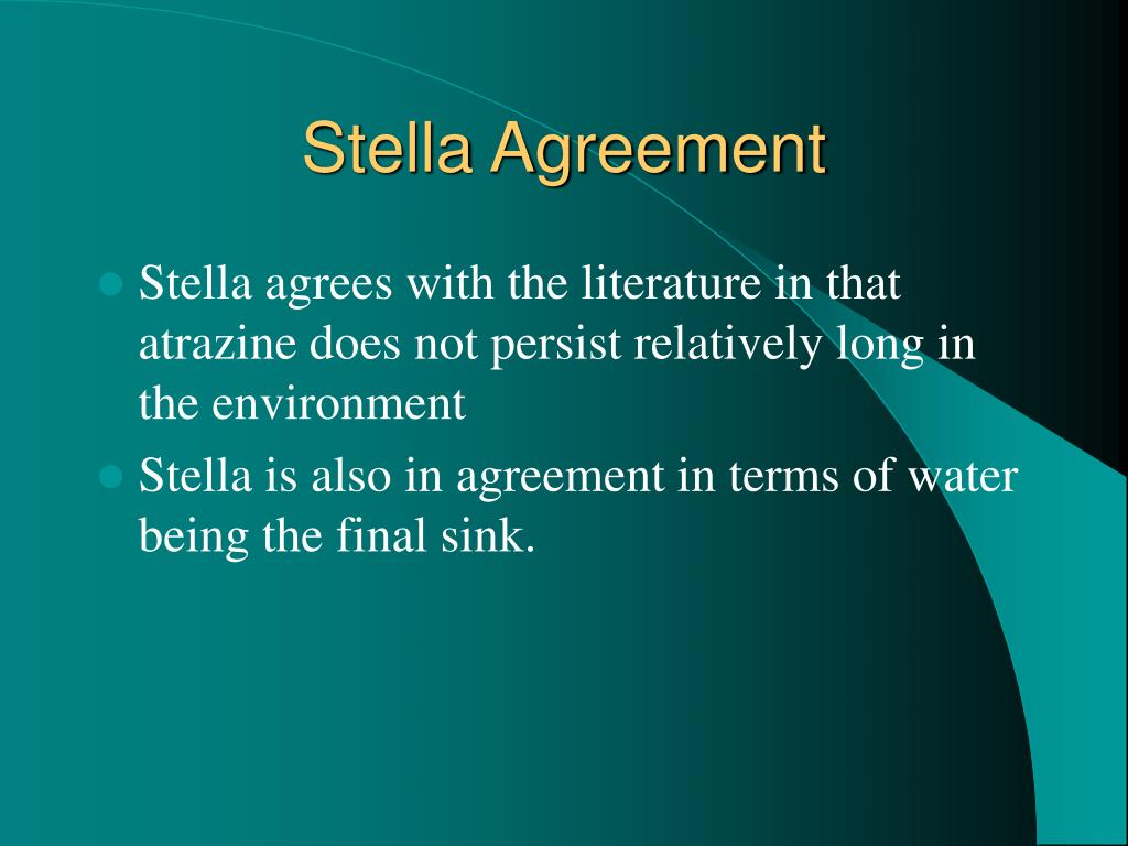Stella Agreement
