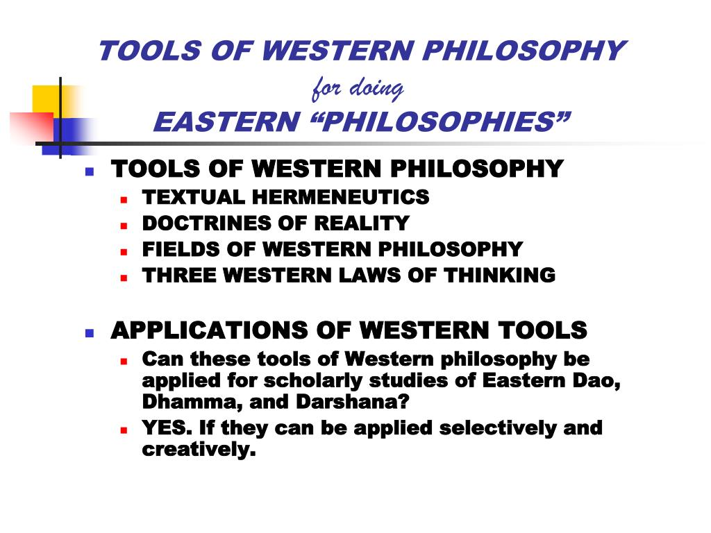 eastern and western philosophy essay