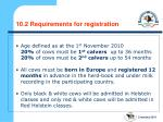 10 2 requirements for registration