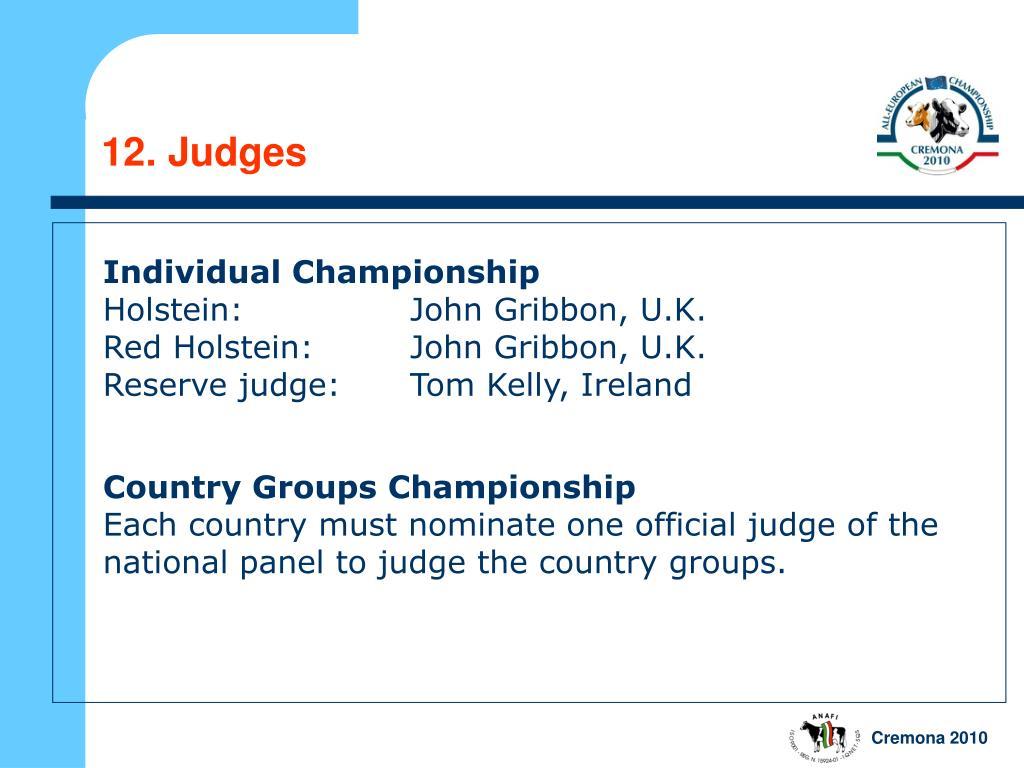 12. Judges