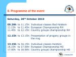 8 programme of the event7