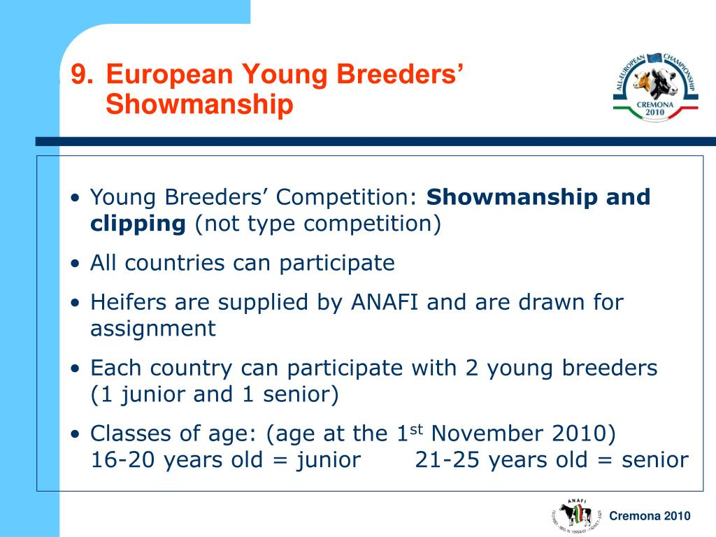 9.European Young Breeders'