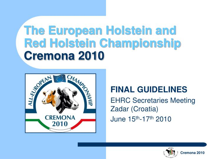 The european holstein and red holstein championship cremona 2010 l.jpg