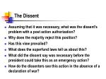 the dissent