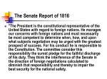 the senate report of 1816