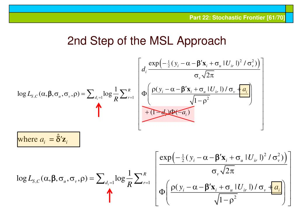 2nd Step of the MSL Approach
