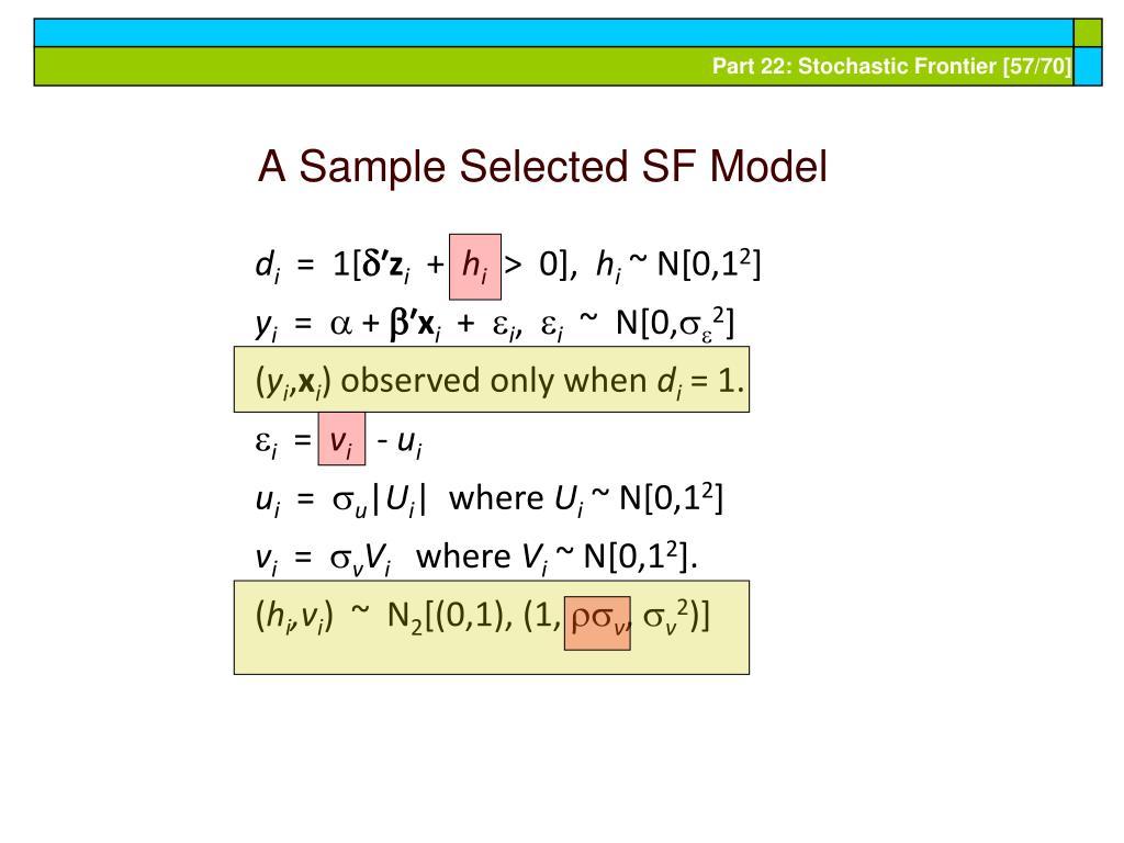 A Sample Selected SF Model