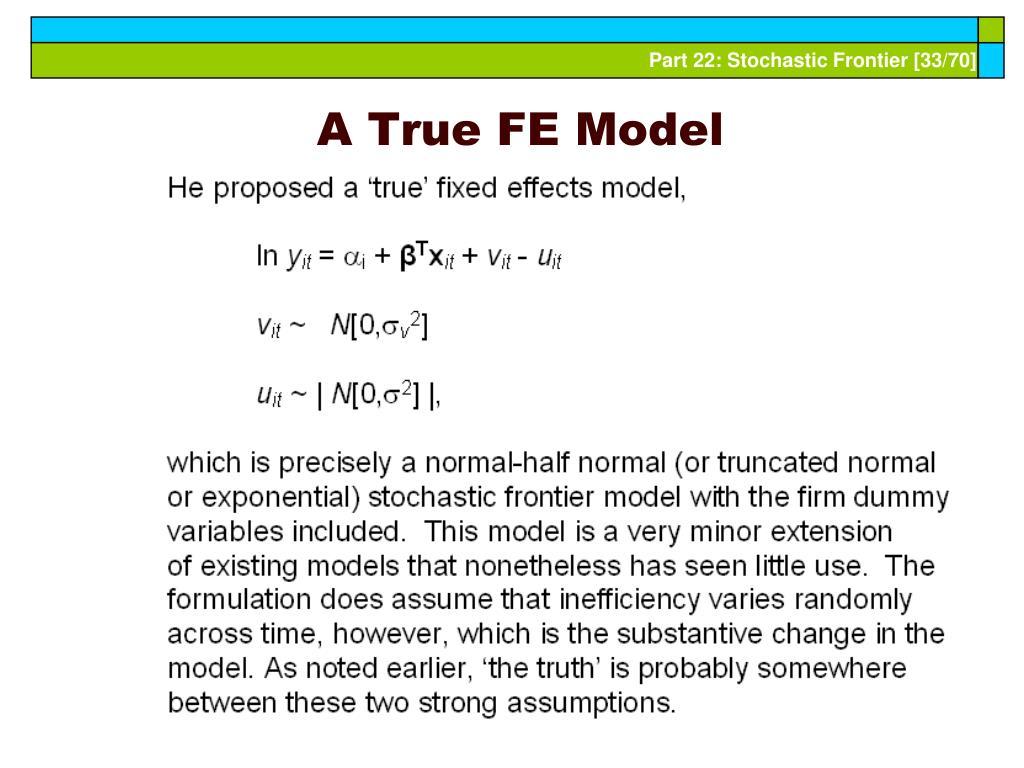 A True FE Model