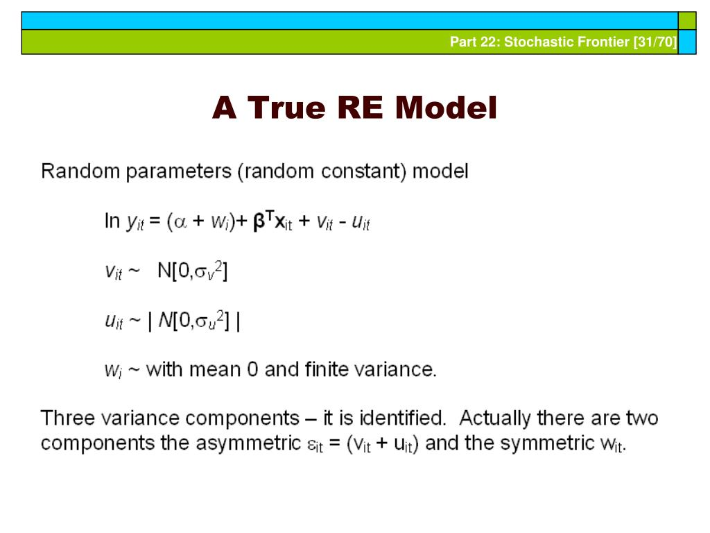 A True RE Model