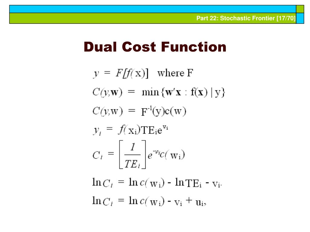 Dual Cost Function