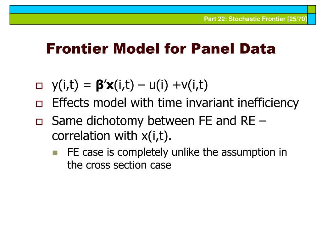Frontier Model for Panel Data