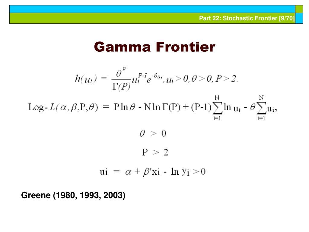 Gamma Frontier