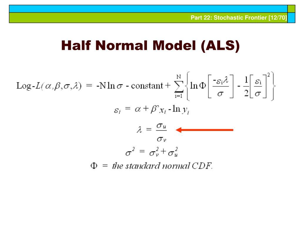 Half Normal Model (ALS)