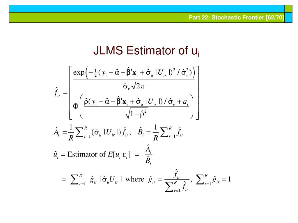 JLMS Estimator of u