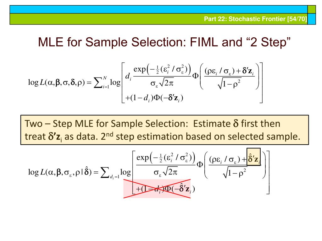 """MLE for Sample Selection: FIML and """"2 Step"""""""