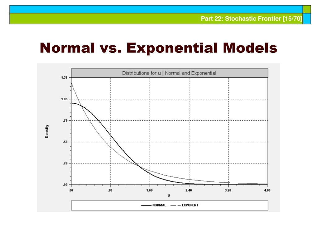 Normal vs. Exponential Models