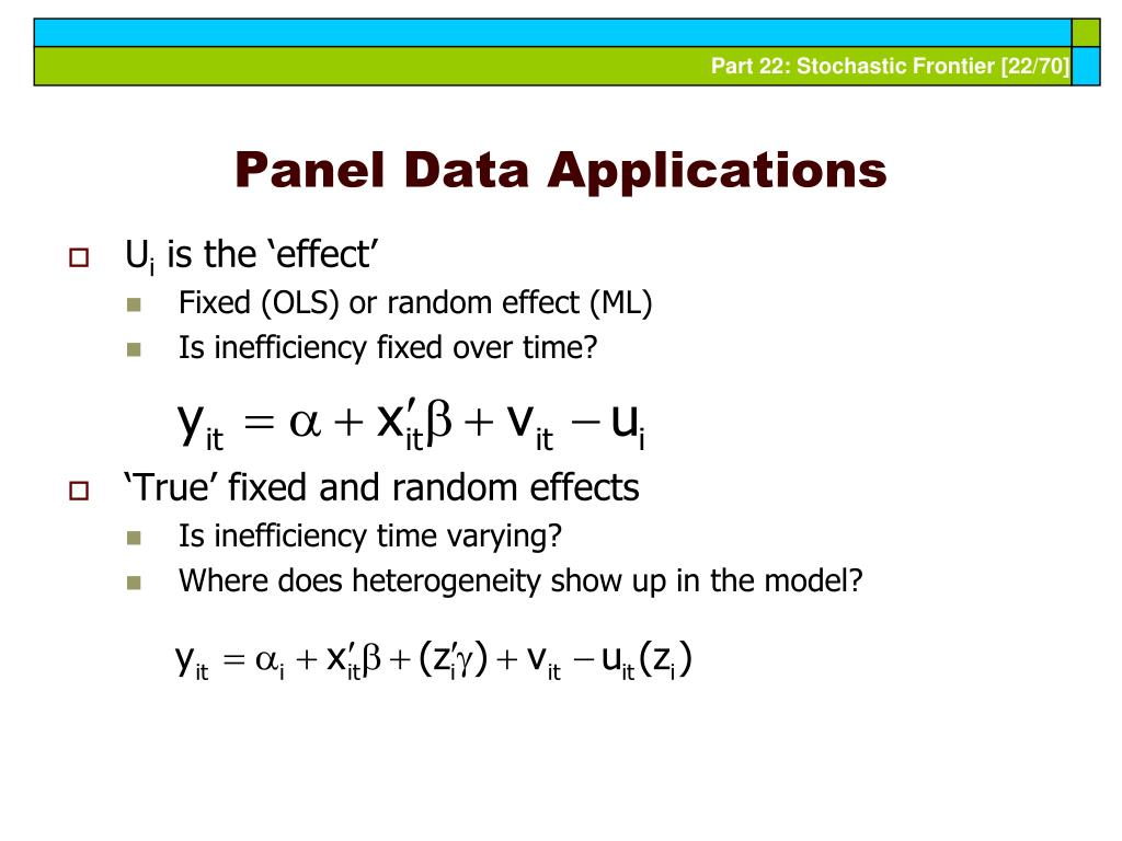Panel Data Applications