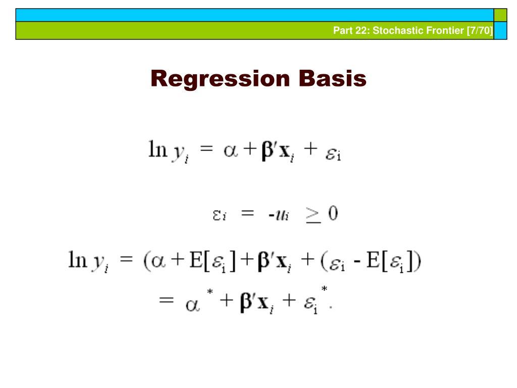Regression Basis
