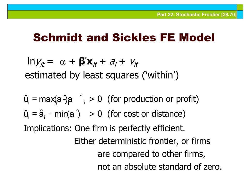 Schmidt and Sickles FE Model