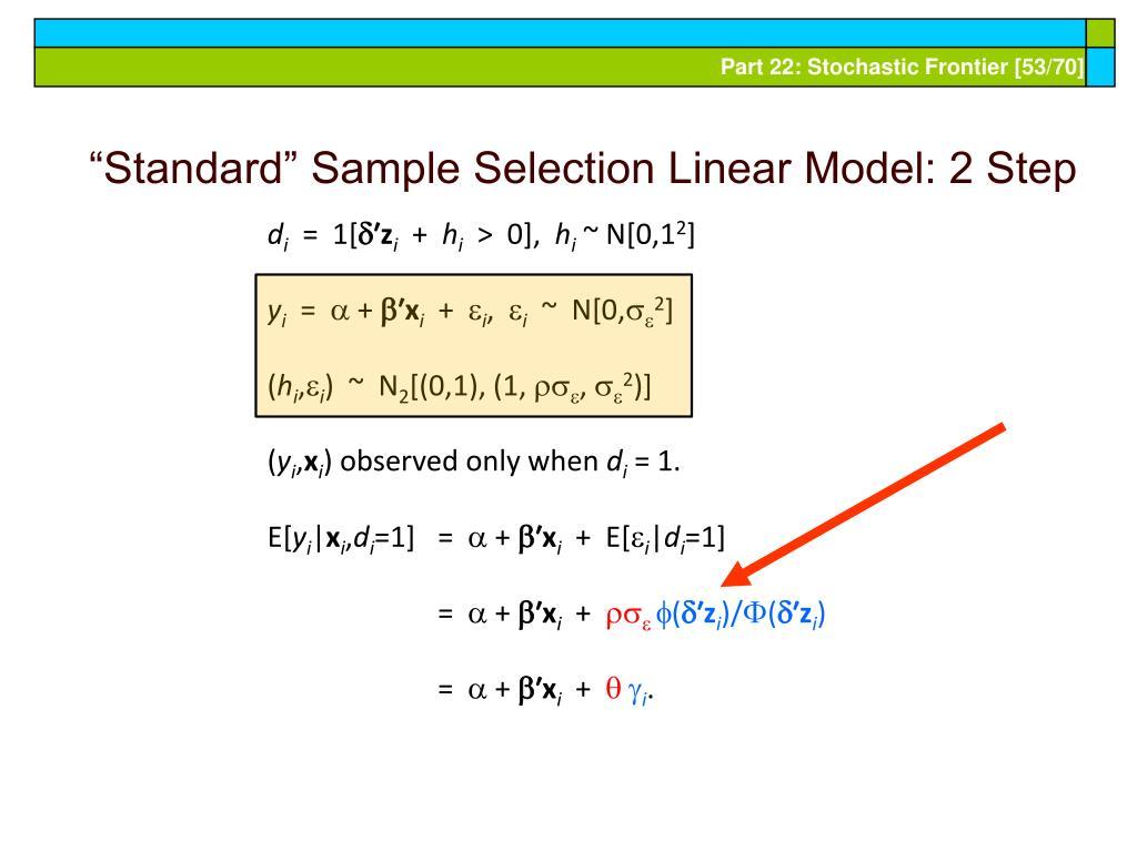 """Standard"" Sample Selection Linear Model: 2 Step"