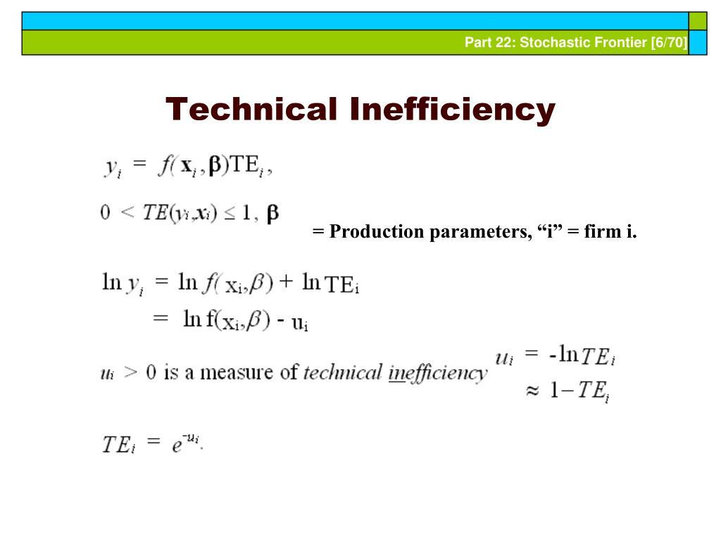Technical Inefficiency