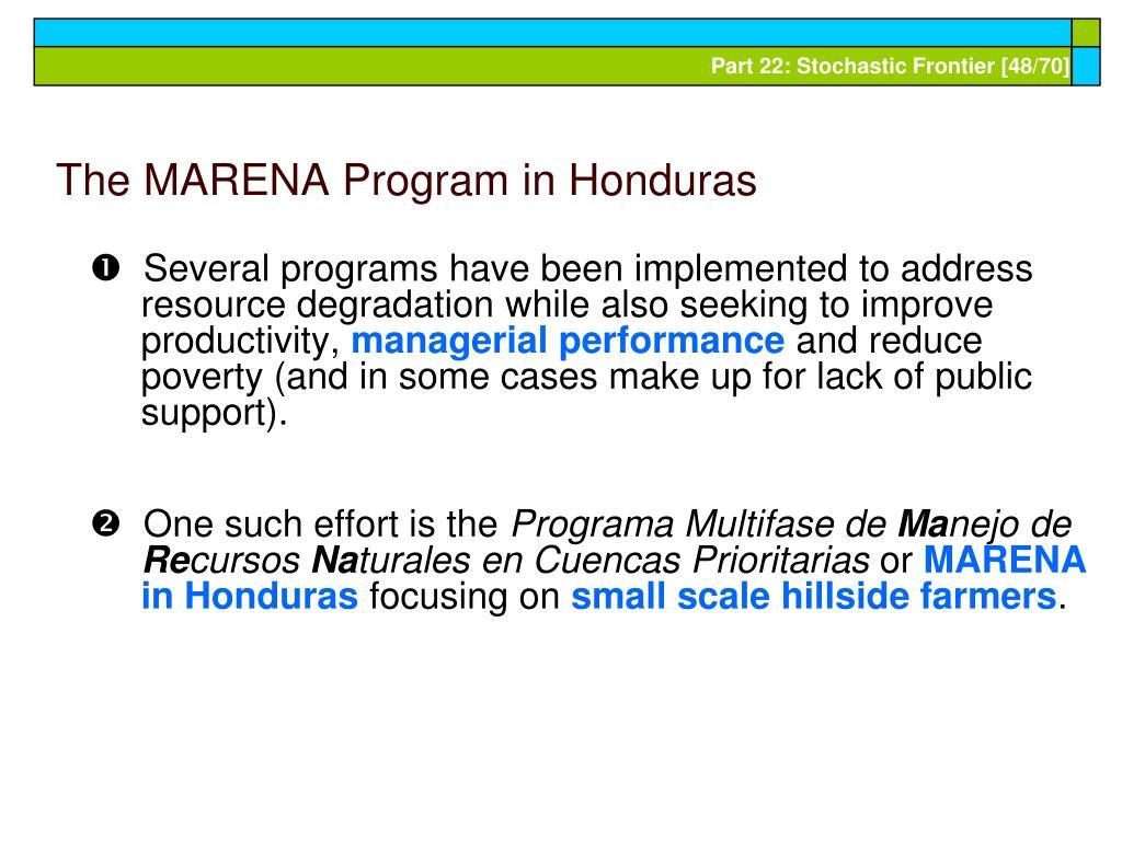 The MARENA Program in Honduras