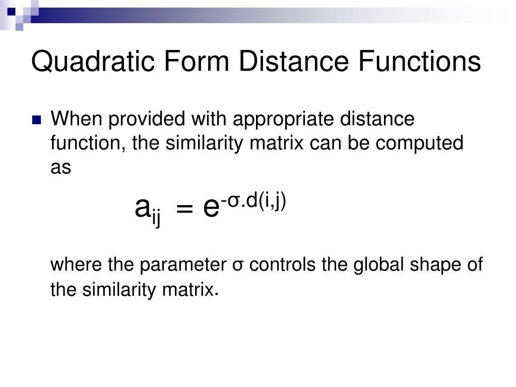Quadratic Form Matrix Ppt Outline Powerpoint Presentation Id ...