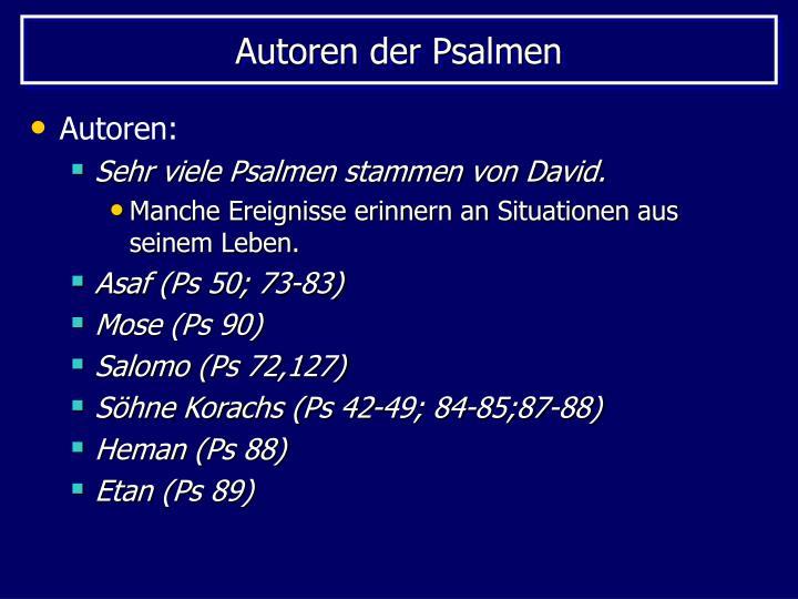 Autoren der Psalmen
