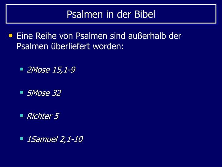 Psalmen in der Bibel