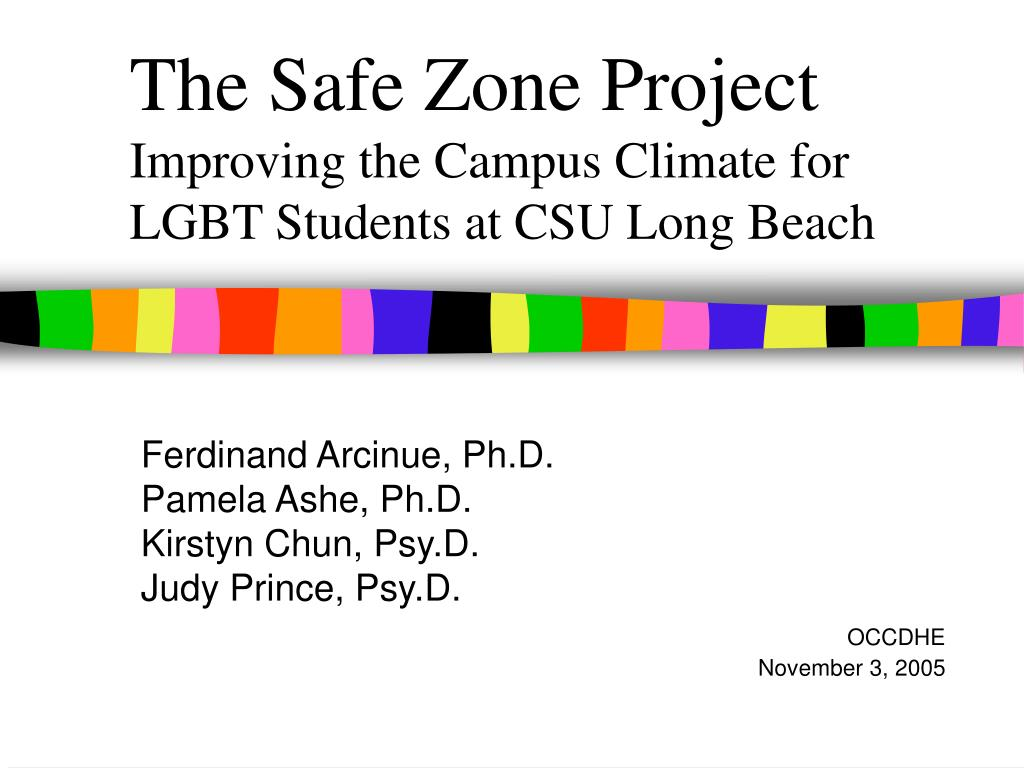 the safe zone project improving the campus climate for lgbt students at csu long beach