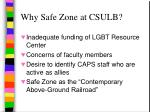 why safe zone at csulb