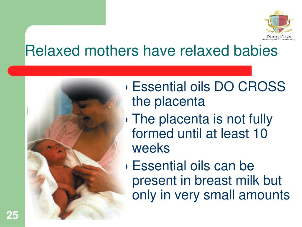 Relaxed mothers have relaxed babies