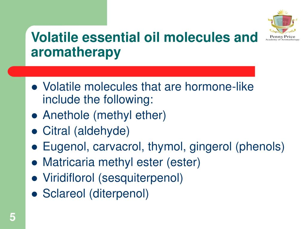Volatile essential oil molecules and aromatherapy