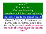 joshua 5 it s a new land it s a new beginning how about a spiritual new beginning19