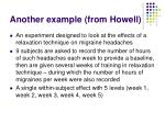 another example from howell