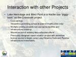 interaction with other projects