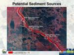 potential sediment sources