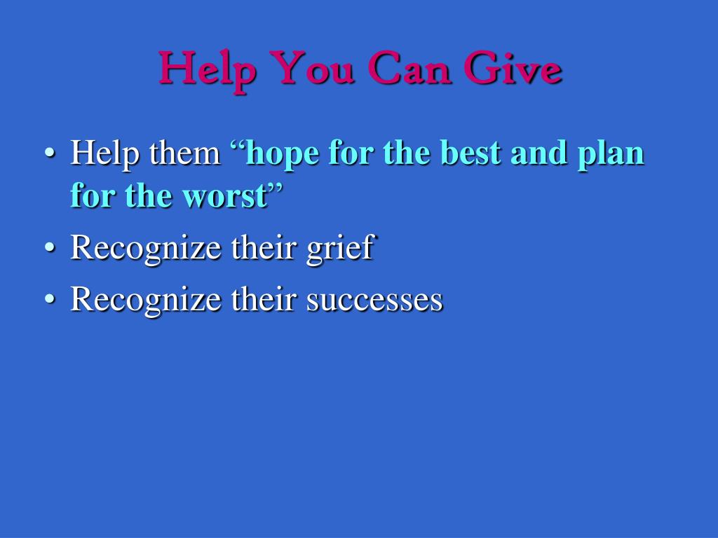 Help You Can Give
