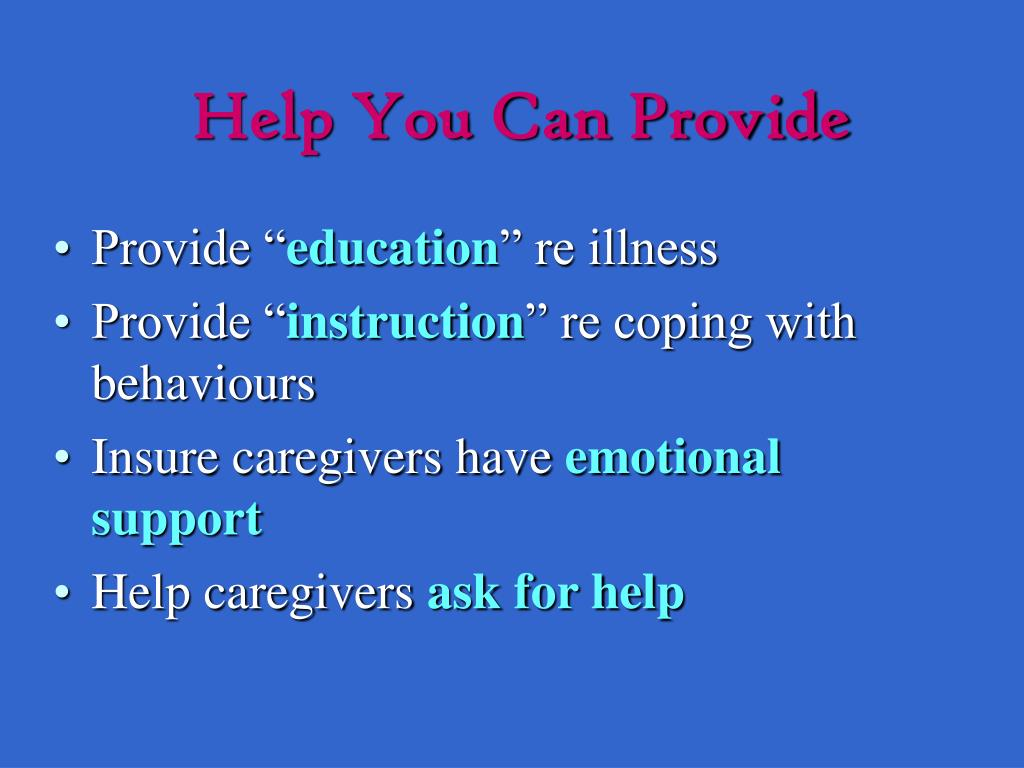 Help You Can Provide