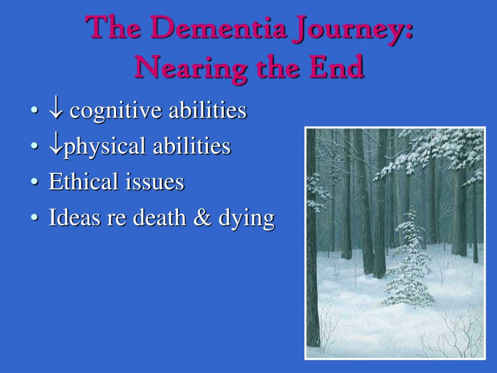 The Dementia Journey: Nearing the End