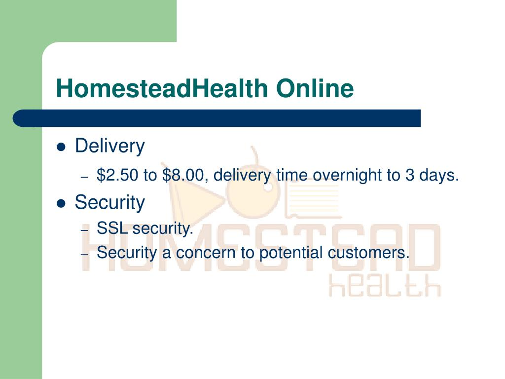 HomesteadHealth Online