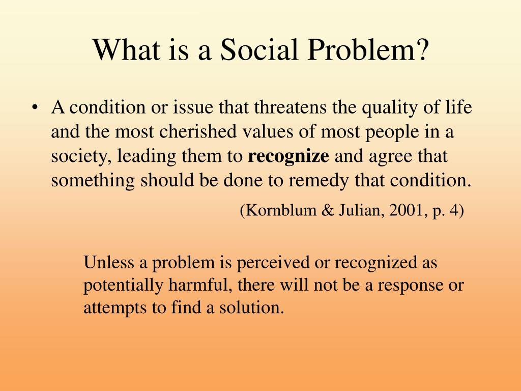 What is a Social Problem?