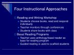four instructional approaches23
