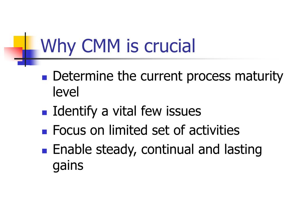 Why CMM is crucial