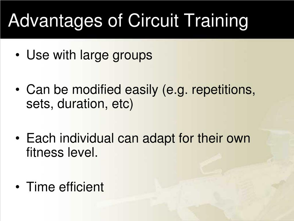 Advantages of Circuit Training